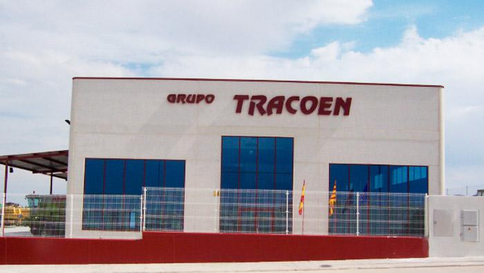 Fachada de oficinas Tracoen