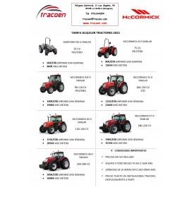 Tarifa alquiler tractores