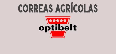 Correas agrícolas Optibelt en Tracoen